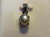 Natural Basra Pearl Pendant 1 Carat on 18k White Gold