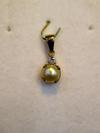 Natural Basra Pearl Pendant 1+ Carat with Diamond