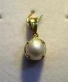 Natural Basra Pearl Pendant 2+ carats 18K Gold