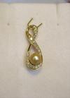 Natural Basra Pearl Pendant with Diamonds 1+ carats