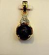 Natural Basra Pearl Pendant with Diamonds 8mm