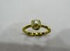 Natural Basra Pearl Ring 1 carat on 18k Gold