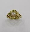 Natural Basra Pearl Ring 2+ carats 18k Gold