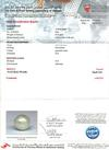 Certificate Natural Basra Pearl Ring With Diamonds 18k Gold