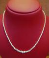 Natural Basra Pearl Strand Necklace 16 Inches Long
