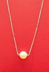 Natural Basra Single Pearl Necklace