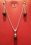 Natural Chocolate Basra Pearl Necklace and Earring Set