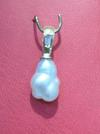 Natural Pearl Pendant with Tapper Cut Diamond