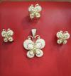 Natural Seed Pearls Pendant Set Butterfly Design