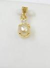 Salt Water Natural Pearl Pendant with Diamond