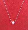 Single Natural Basra Pearl Pendant Necklace for Sale
