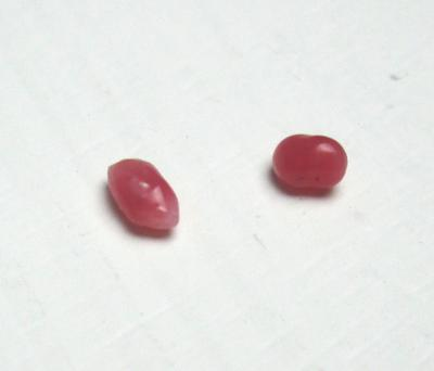 Two Dark Pink Conch Pearls Baroque 4mm and 3mm
