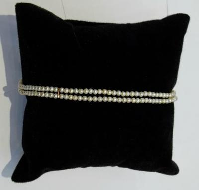 Two Strand Natural Basra Pearl Bracelet