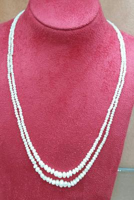 Two Strand Natural Basra Pearl Necklace for Sale - 60 carats
