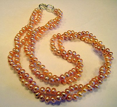 Two Strand Pink Pearls