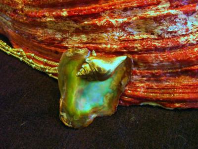 Flat Abalone Pearl Pendant