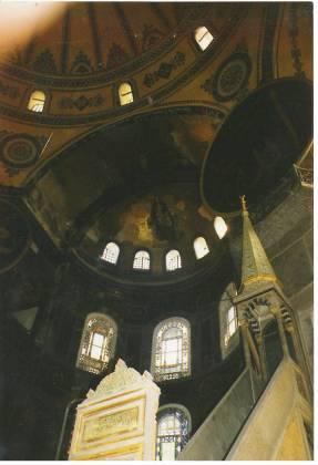 Upper Interior Hagia Sophia Istanbul