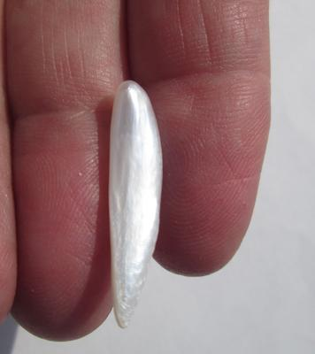 USA Natural Freshwater 4+ carat Spike Pearl 27mm