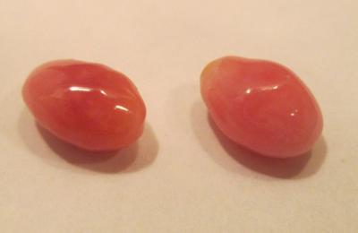 5.74 total carats - conch pearl pair