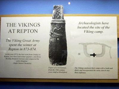 Norsemen army at Repton, England