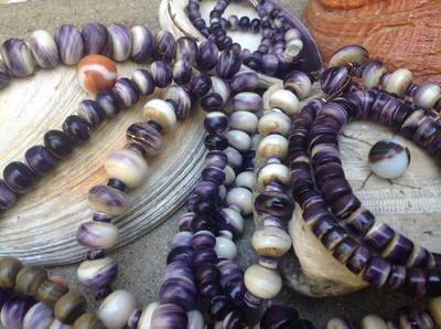 Wampum beads from Quahog