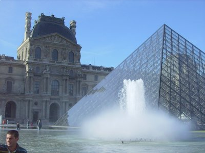 Water fountain at Louvre