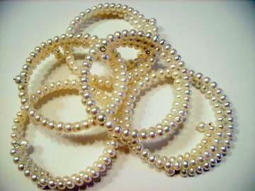 White Pearl Wrap Bracelets