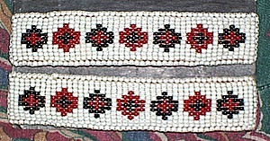 White Red Black Beading