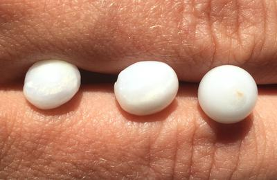3 Roundish Clam Pearls with Flame - 12.50 carats Total