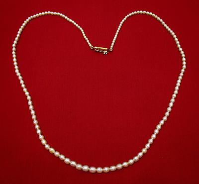 30.89 carat Natural Basra Pearl Necklace Strand