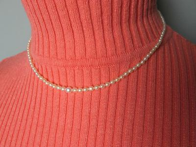 32ct Basra Pearl Necklace with Oval and Drop Pearls