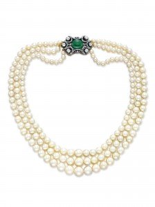 $1.1 million natural pearl necklace
