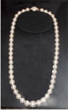 Mikimoto string of pearls necklace