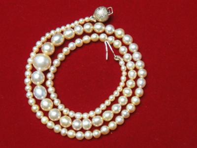 Natural pearl necklace 48.54 carats total