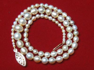 Natural Basra Pearl necklace 57.52 carats