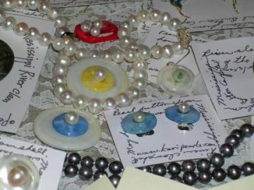 pearls and pearl buttons