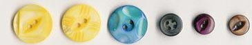 Vintage pearl buttons from Muscatine, Iowa, former Pearl Button Capital of the World