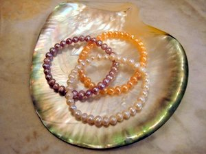 Pink and White Child Bracelets
