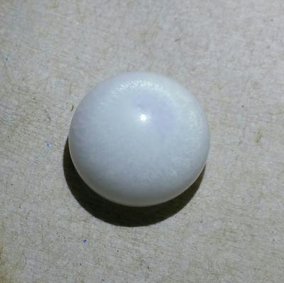 Clam Pearl 29.75 ct Stunning Flame 17mm Button Shape