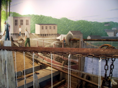 Clamming Mural Muscatine Pearl Button Museum.