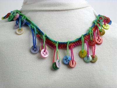 Colorful Muscatine Button Necklace