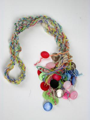 Colorful Muscatine Pearl Button Necklace