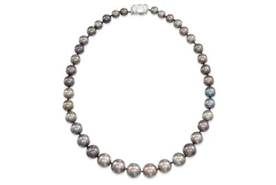 The Cowdray Pearls, a rare natural pearl necklace. Estimate £280,000-350,000. Photo: Christie's Images Ltd 2012