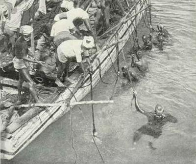 Pearl fishing in the Gulf of Mannar, ca. 1926 <I>Wiki</I>
