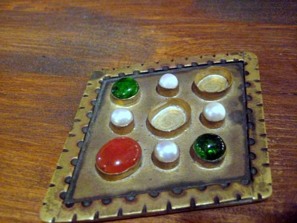Hungarian Jeweled Brooch