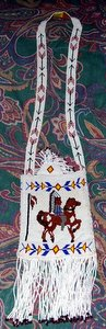 Indian on Horse Beaded Purse
