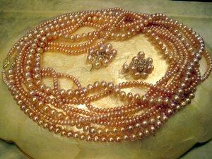 Lavender pearl set