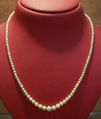 Lovely Strand of Natural Basra Pearls