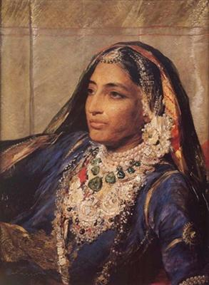 Maharani Jind Kaur - Wearing Pearls