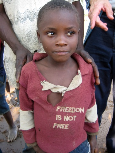 Malawi child 'Freedom is not Free'